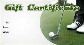 golf gift certificate template gift template select a gift certificate template to