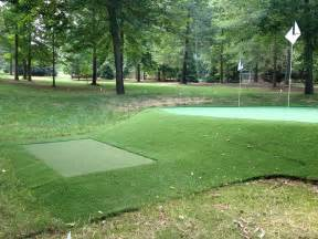 backyard chipping green build your own practice green east coast synthetic turf