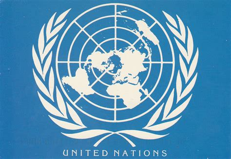 United Nations Nation 5 by Johan Postcards United Nations New York Official Emblem
