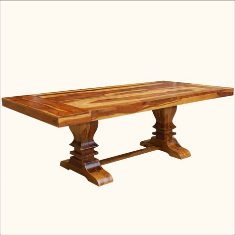 Trestle Extension Dining Table Large Trestle Pedestal Dining Table Extension For 10 Seats Solid Wood Furniture