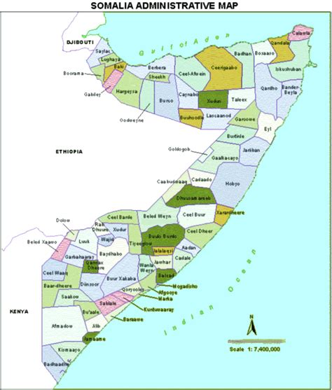 somalia on world map somalia karte provinzen