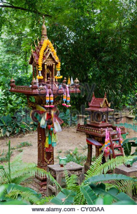 buy thai spirit house thai spirit house at our jungle house a lodge in the rainforest near stock photo royalty free
