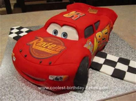 coolest lightning mcqueen cake homemade lightning
