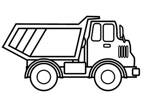 Download Coloring Pages Dump Truck Coloring Pages Dump Trucks Coloring Pages