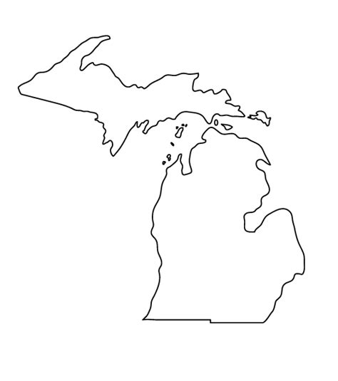 michigan outline tattoo michigan mitten state outlines vectors michigan outline