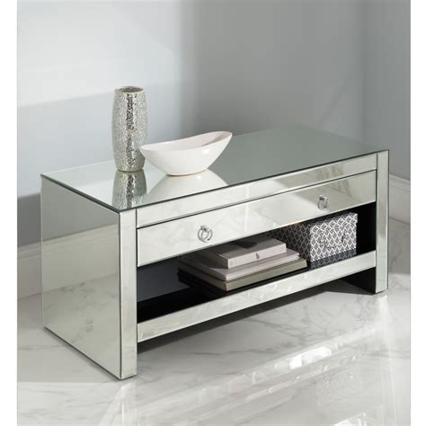Mirrored Tv Cabinet Furniture by Mirrored Tv Cabinet Glass Venetian Furniture