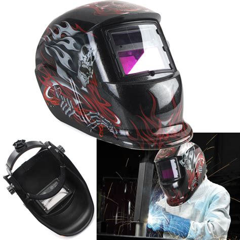 Helmet Arc Half leather neck protected lens glasses welding helmet mask overhead ebay
