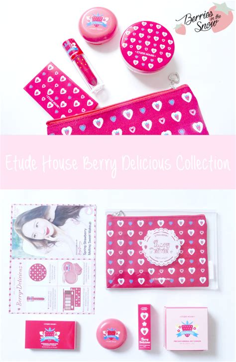 Etudehouse Berry Delicious Blusher etude house pink bird box february berry delicious