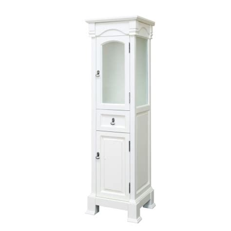 bathroom linen cabinet in white finish uvbh205065towercr