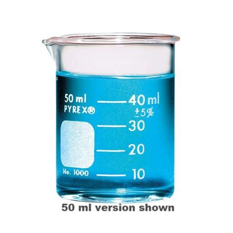 Beaker Glass Iwaki 30 Ml pyrex 174 griffin low form 30ml beaker graduated the science shop