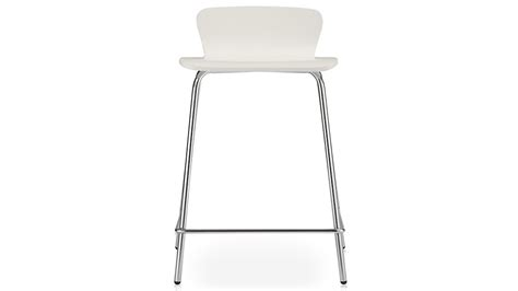 white poo felix white counter stool in bar stools crate and barrel
