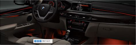 bmw lights package 2014 x5 led lighting package ambient light preview