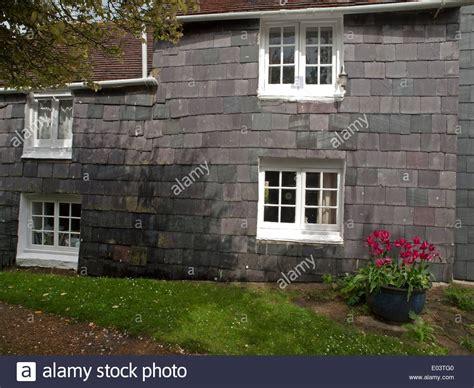 house slate a slate tile clad house in a pretty english village stock photo 68926592 alamy