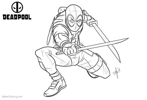 deadpool coloring pages for adults marvel characters deadpool coloring pages free printable