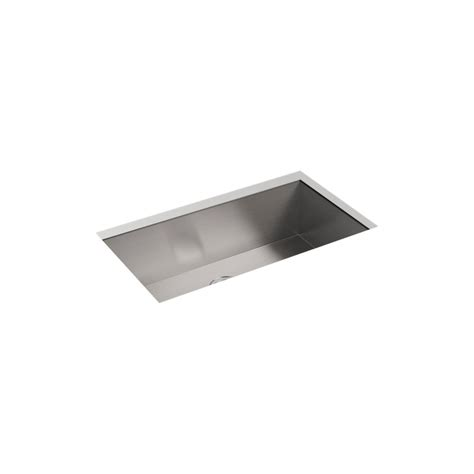 kohler stainless undermount sink kohler lyric undermount stainless steel 33 in 4