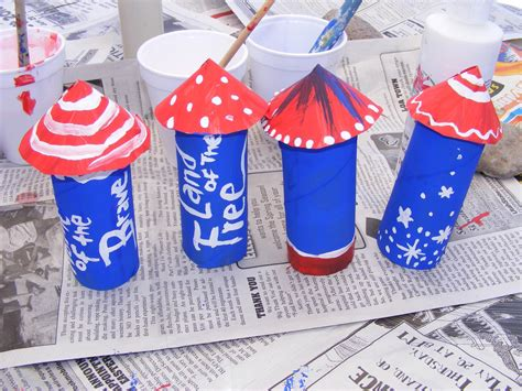 4th of july toilet paper roll rocket craft preschool