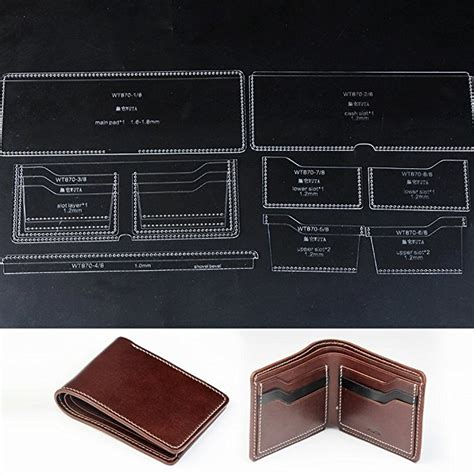 pattern for leather wallet wuta leather acrylic template for men s short wallet diy