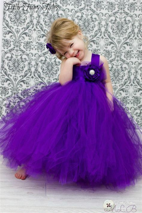 baby purple dress royal purple flower tutu dress tutu and