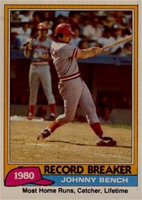 johnny bench baseball card value 1981 topps johnny bench 201 baseball card value price guide