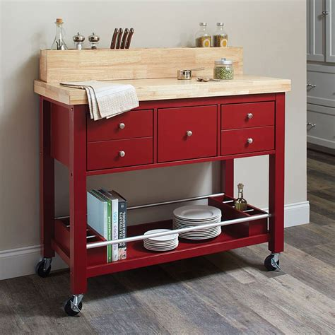 red kitchen island cart natural kitchen cart red kitchen islands and serving