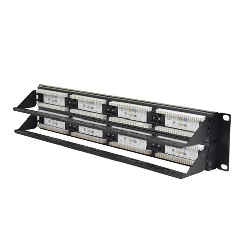 cat6 48 port rack mounted patch panel
