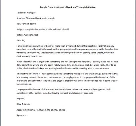 rude up letter sle complaint letter for rude behaviour