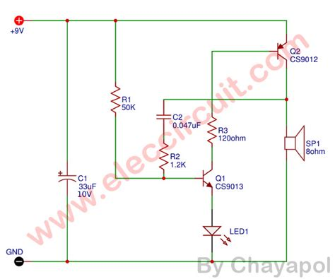 how to make simple electronic buzzer eleccircuit