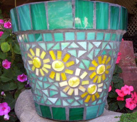 mosaic flower pot flickr photo