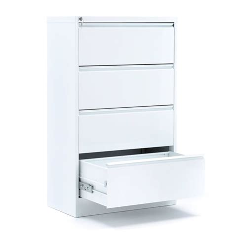 Lateral A4 Filing Cabinet 4 Drawers 800x425x1320 Mm Lateral Filing Cabinets White