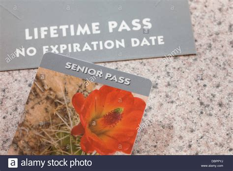 the national parks and federal recreational lands senior access pass stock photo royalty free
