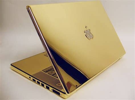 Laptop Apple Gold 24k gold plated macbook pro is the ultimate luxury computer luxury lifestyle design