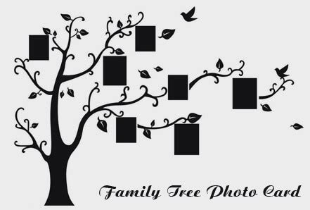 A Guide On Family Tree Photo Card Making Tree Photo Collage Template