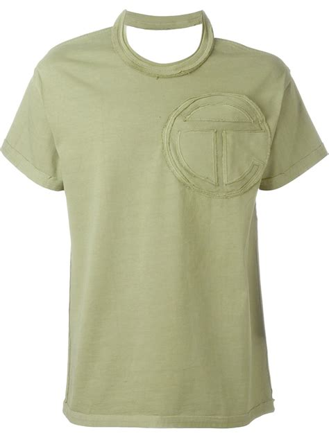Shoulder Cut Out Shirt telfar cut out shoulder t shirt in green for save 40