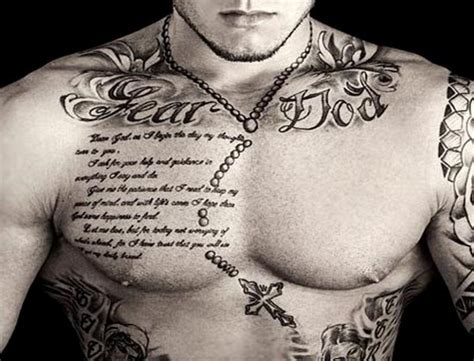fear god tattoo 55 best chest tattoos for amazing ideas