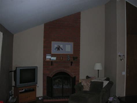 Drywall Brick Fireplace by Drywall Brick Fireplace