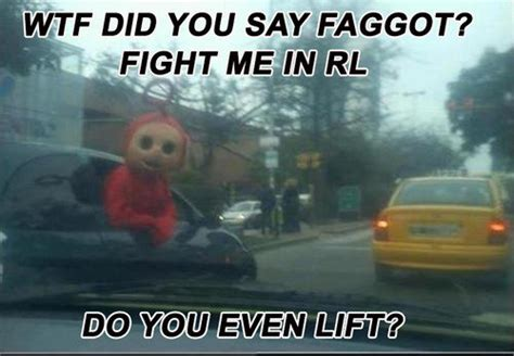 Fight Me Meme - teletubbies fight lift fight me irl know your meme