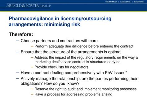 ppt management of pharmacovigilance in licensing and