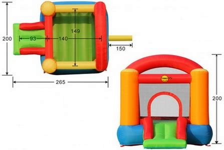 mainan istanah rumah balon slide bouncer happy hop 9004b
