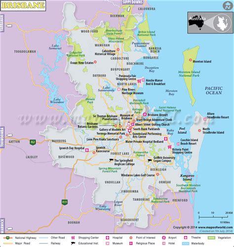 map world brisbane brisbane map city map of brisbane australia