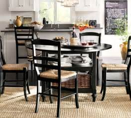 Kitchen Table Pottery Barn Shayne Drop Leaf Kitchen Table Black Pottery Barn