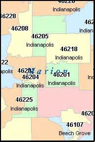 Indiana Zip Code Map by Indianapolis Indiana In Zip Code Map Downloads