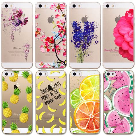 Casing Silicon Soft Iphone 5 5s Se Flower Bling Cover 1 for apple iphone 5 5s se new arrival soft tpu