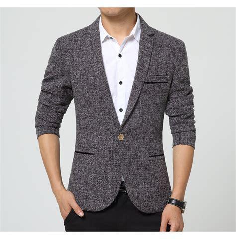 Style Korean Single Button Blazer aliexpress buy high fashion korean style mens one button blazer khaki grey casual tuxedo