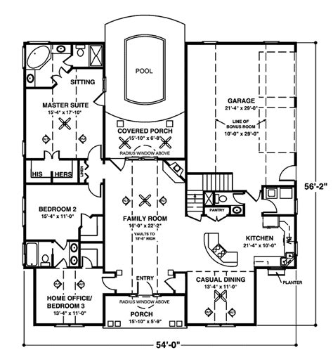 crandall cliff one story home plan 013d 0130 house plans