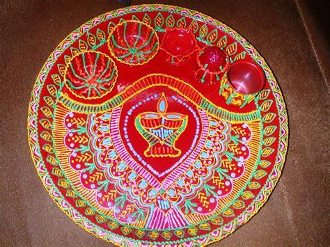 decorative aarti thali online diwali puja thali decoration ideas www imgkid the