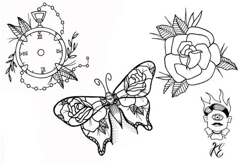 karl eginton tattoo tattoo flash sheet two