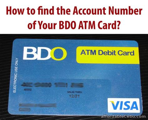 how to make atm card how to find the account number of bdo atm card banking