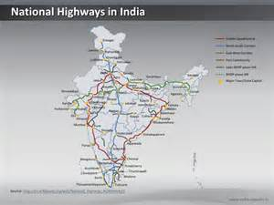 national highways india ppt map