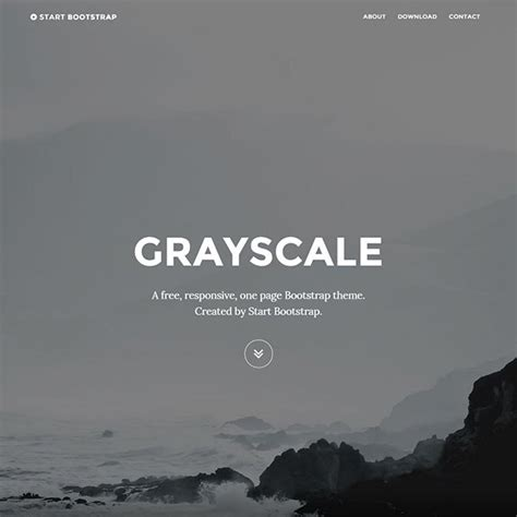 grayscale template 30 best free bootstrap html5 website templates