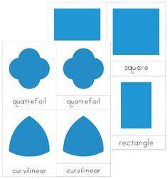 printable montessori geometric shapes 1000 images about montessori shapes geometrie triangles